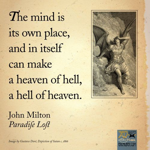 john milton quote - paradise lost